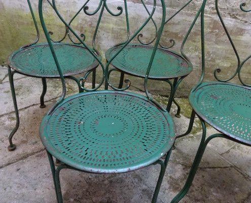 4 Chaises De Jardin En Fer Forge VENDUES